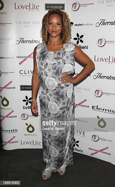 Angela Griffin arrives at The Inspiration Awards For Women 2012 at Cadogan Hall on October 3 2012 in London England