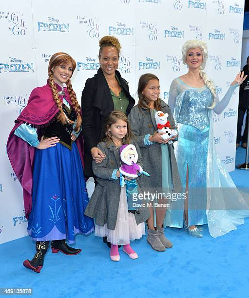 Angela Griffin attends a celebrity singalong from 'Frozen' at Royal Albert Hall on November 17 2014 in London England