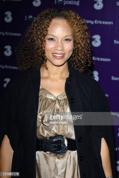 Angela Griffin attends the 3 Sony Ericsson K770i phone phone launch at the Bloomsbury Ballroom October 24 2007 in London England