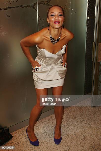 Angela Griffin attends the TV Quick TV Choice Awards Champagne reception held at The Dorchester on September 7 2009 in London England