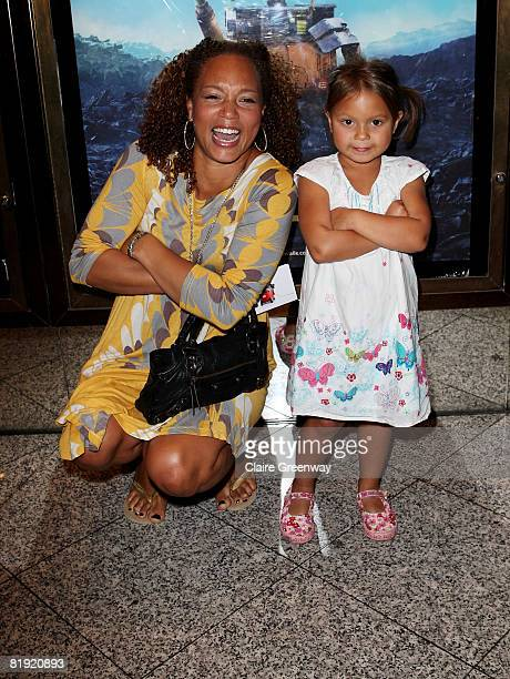 Angela Griffin attends the UK Premiere of WALLE at the Empire Cinema Leicester Square on July 13 2008 in London England