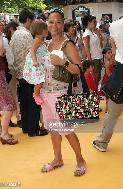 Angela Griffin during Bob the Builder Built to be Wild London Premiere at Odeon West End in London Great Britain