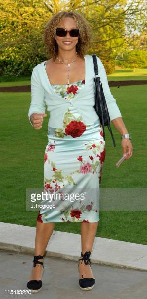 Angela Griffin during Horticulture Fashion Show Arrivals at The Orangery in London Great Britain