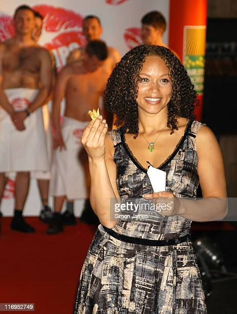 Angela Griffin during National Chip Week Press Launch Catwalk Show February 9 2006 at The Collection in London Great Britain
