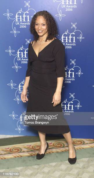 Angela Griffin during UK FiFi Awards 2006 Arrivals at The Dorchester in London Great Britain