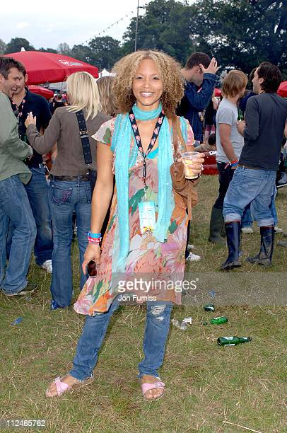 Angela Griffin in the Virgin Mobile Louder Lounge at the V Festival