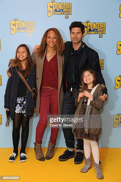 Angela Griffin Jason Milligan and Family attends a special Mother's Day screening of 'The SpongeBob Movie Sponge Out of Water 3D' at the Ham Yard...