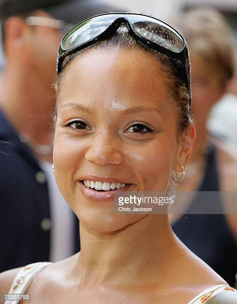 Angela Griffin poses for photographs at the Bob The Builder Built To Be Wild UK Premiere at the Odeon West End in Leicester Square on June 2 2006 in...