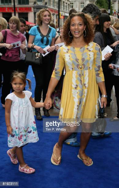Angela Griffin poses on the red carpet ahead of the UK Premiere of the film WALLE on 13 July 2008 at the Empire Cinema in Leicester Square London...