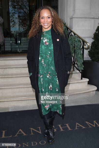 Angela Griffiths attends the Caudwell Children Ladies Lunch at The Langham Hotel on November 24 2017 in London England