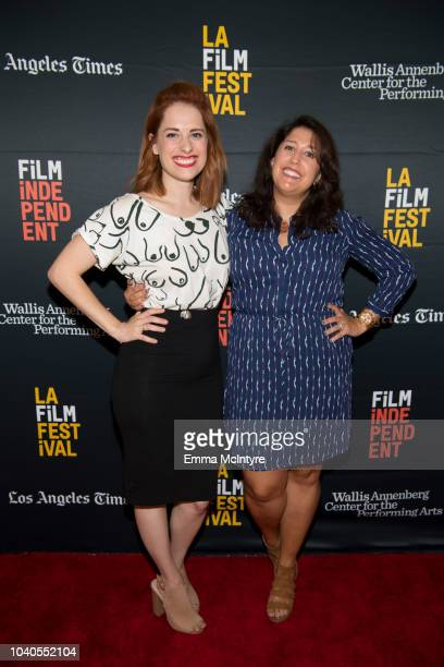 Angela Gulner and Laura Menino attend the 2018 LA Film Festival 'Welcome to the Clambake' at Wallis Annenberg Center for the Performing Arts on...