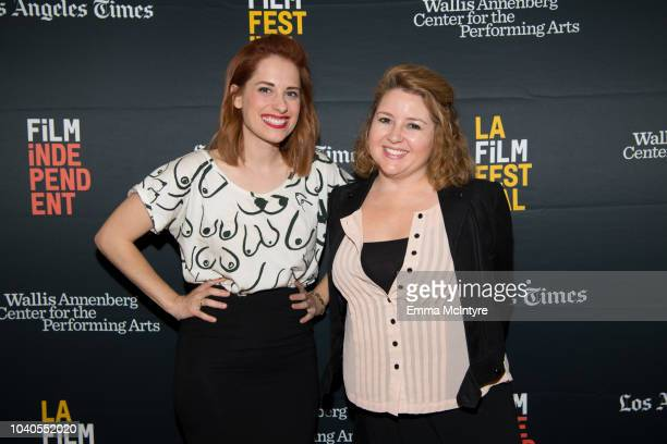 Angela Gulner and Lindsay Stidham attend the 2018 LA Film Festival 'Welcome to the Clambake' at Wallis Annenberg Center for the Performing Arts on...
