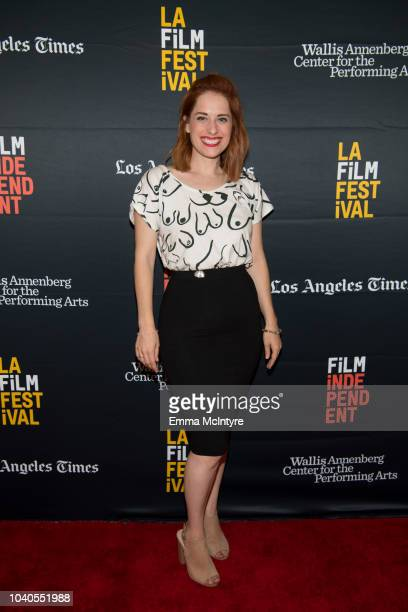 Angela Gulner attends the 2018 LA Film Festival 'Welcome to the Clambake' at Wallis Annenberg Center for the Performing Arts on September 25 2018 in...