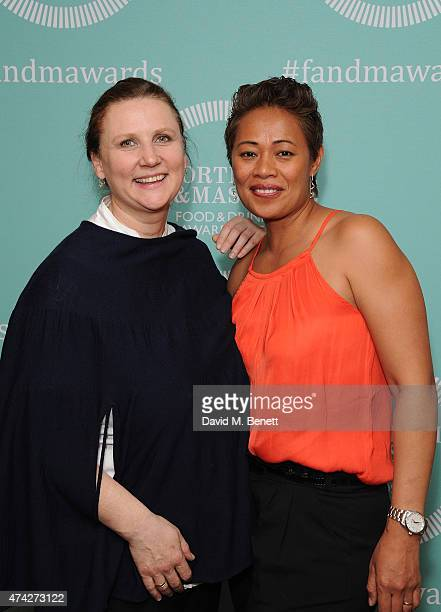 Angela Hartnett and Monica Galetti attend the third annual Fortnum Mason Food Drink Awards 2015 on May 21 2015 in London England The awards celebrate...
