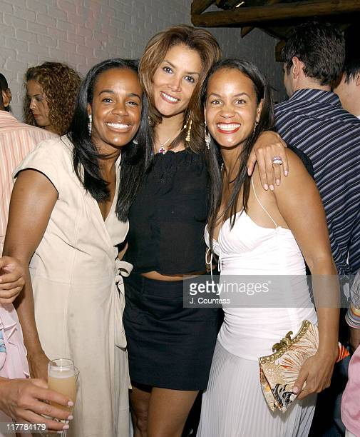 Angela Holton Sil Lai Abrams and Erica Reid during LA Reid Birthday Celebration Inside at Cipriani's in New York City New York United States