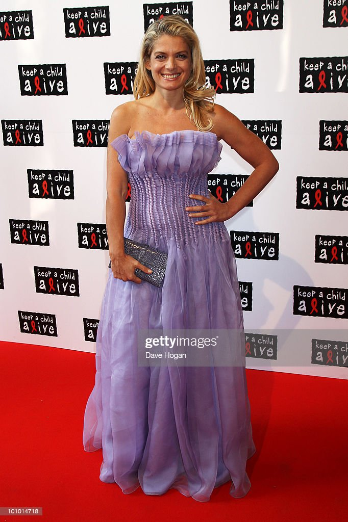 Angela Ismailos arrives at the Keep A Child Alive Black Ball held at St John's, Smith Square on May 27, 2010 in London, England.