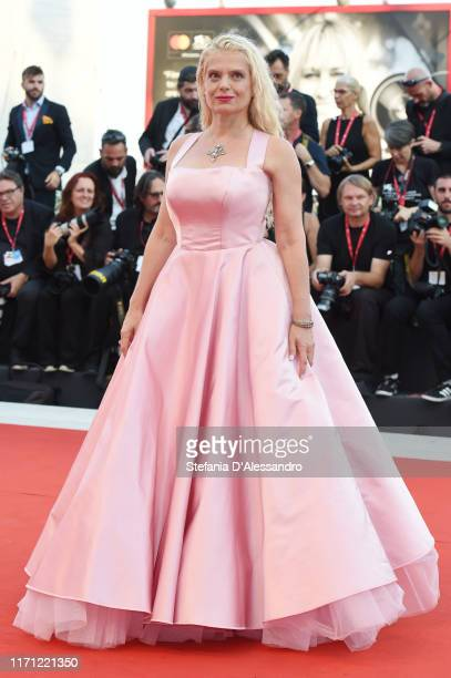 """Angela Ismailos walks the red carpet ahead of the """"J'Accuse"""" screening during the 76th Venice Film Festival at Sala Grande on August 30, 2019 in..."""