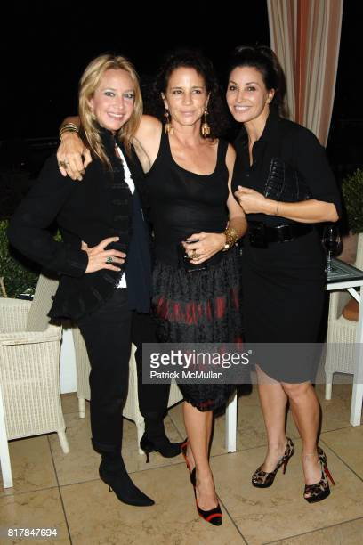 Angela Janklow Lisa Eisner and Gina Gerson attend Malcolm Gladwell And Lisa Eric Eisner Dinner in Celebration and Support of YES at The Sunset Tower...
