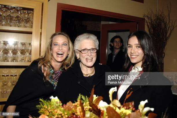 Angela Janklow Stein Alice Drucker and Veronica Harrington attend LINDA and MORT JANKLOW 49th Wedding Anniversary at Wine Restaurant on November 27...