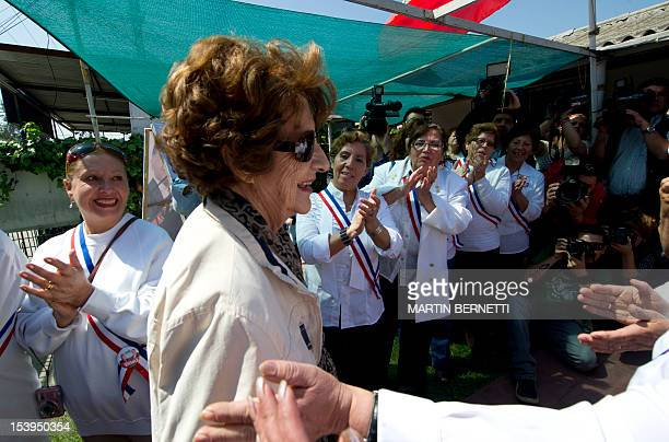 Angela Jeria mother of former Chilean president Michelle Bachelet and members of the socalled Bachelet Team arrive at a local headquarters of their...