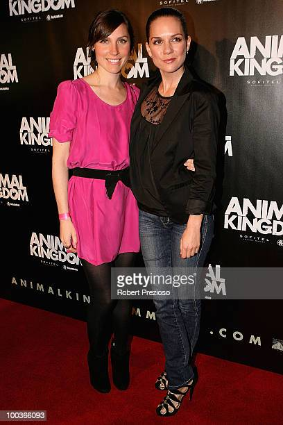 Angela Johnson and Michala Banas arrive at the premiere of 'Animal Kingdom' at Hoyts Melbourne Central on May 24 2010 in Melbourne Australia