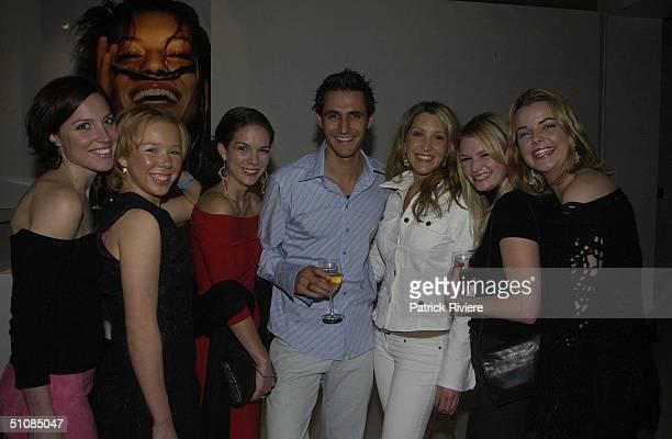 Angela Johnson with Natasha Lee, Michala Banas, Nick Broadhurst, Melanie Symons, Bree Desborough and Bree Walters stars of 'Always Greener' at the...