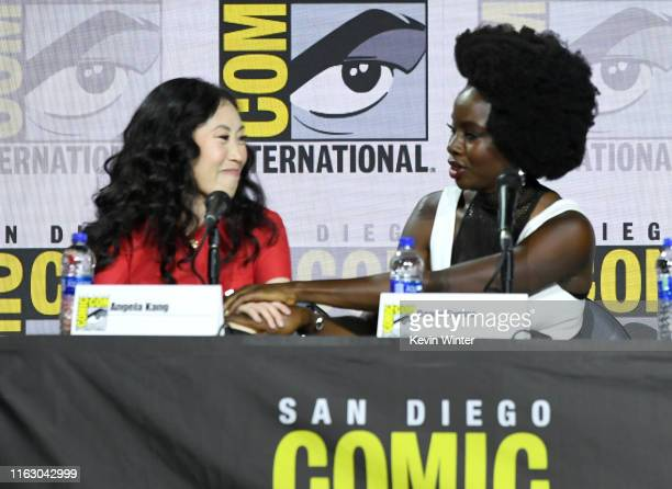 Angela Kang and Danai Gurira speak at The Walking Dead Panel during 2019 ComicCon International at San Diego Convention Center on July 19 2019 in San...
