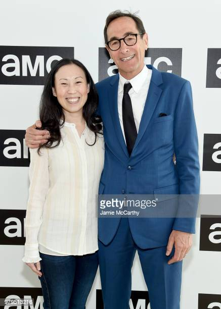 Angela Kang and Josh Sapan attend the AMC Summit at Public Hotel on June 20 2018 in New York City