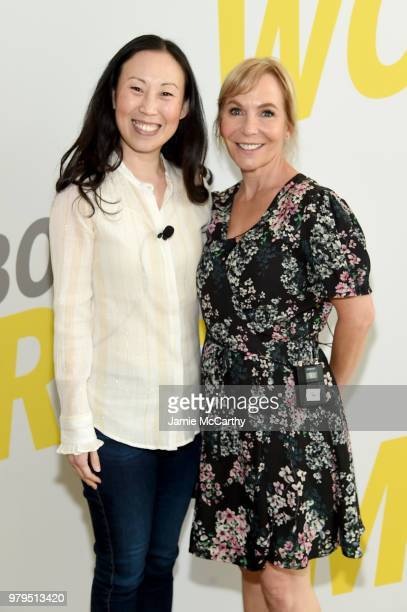 Angela Kang and Marti Noxon attend the AMC Summit at Public Hotel on June 20 2018 in New York City