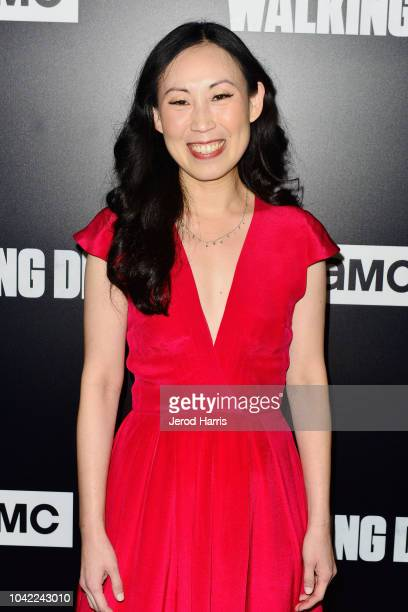 Angela Kang arrives at the Premiere Of AMC's 'The Walking Dead' Season 9 at the DGA Theater on September 27 2018 in Los Angeles California