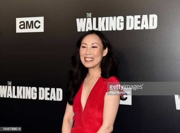 Angela Kang attends the premiere of AMC's 'The Walking Dead' season 9 at DGA Theater on September 27 2018 in Los Angeles California