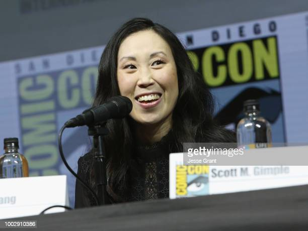 Angela Kang attends 'The Walking Dead' panel with AMC during during ComicCon International 2018 at San Diego Convention Center on July 20 2018 in San...