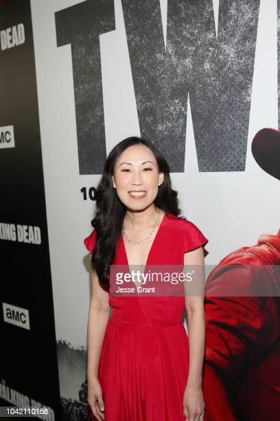 Angela Kang attends The Walking Dead Premiere and After Party on September 27 2018 in Los Angeles California