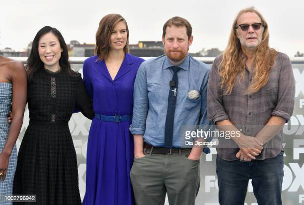 Angela Kang Lauren Cohan Scott M Gimple and Greg Nicotero attend 'The Walking Dead' Photo Call during ComicCon International 2018 at Andaz San Diego...