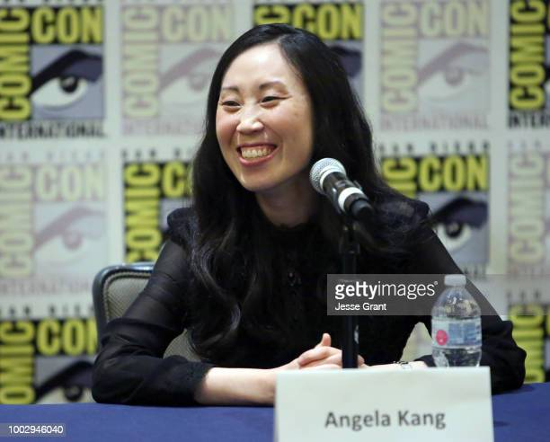 Angela Kang speaks at The Walking Dead Press Conference during Comic Con 2018 on July 20 2018 in San Diego California