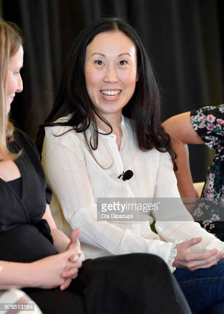 Angela Kang speaks onstage during the 'KickAss Women of AMC' Panel at the AMC Summit at Public Hotel on June 20 2018 in New York City