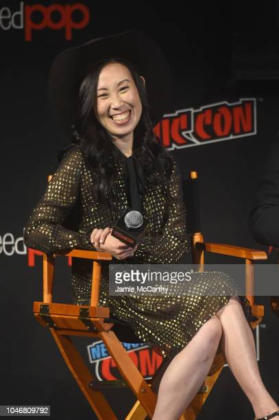 Angela Kang speaks onstage during the NYCC panel and fan screening of 'The Walking Dead' episode 901 at The Theater at Madison Square Garden on...
