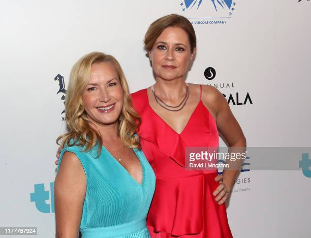 Angela Kinsey and Jenna Fischer attend Thirst Project's 10th Annual Thirst Gala at The Beverly Hilton Hotel on September 28 2019 in Beverly Hills...