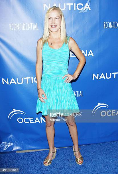 Angela Kinsey arrives Nautica and LA Confidential's Oceana Beach house party held at Marion Davies Guest House on May 16 2014 in Santa Monica...