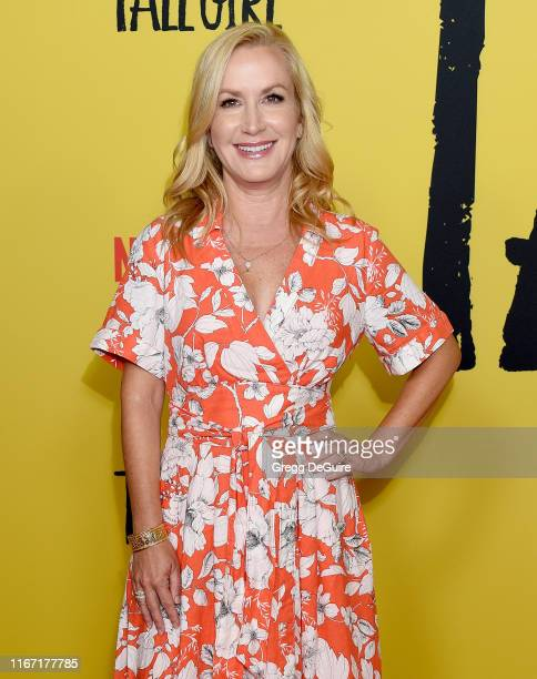 Angela Kinsey attends the Premiere Of Netflix's Tall Girl at Netflix Home Theater on September 9 2019 in Los Angeles California