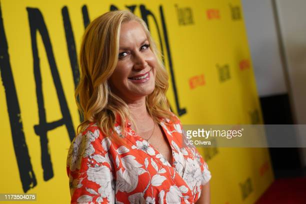 Angela Kinsey attends the premiere of Netflix's 'Tall Girl' at Netflix Home Theater on September 09 2019 in Los Angeles California