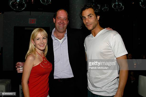 Angela Kinsey Brian Baumgartner and Ben Silverman attend BEN SILVERMAN ERIC HADLEY and CHARLIE WALK host THE NETWORK UPFRONTS dinner at Spotlight...