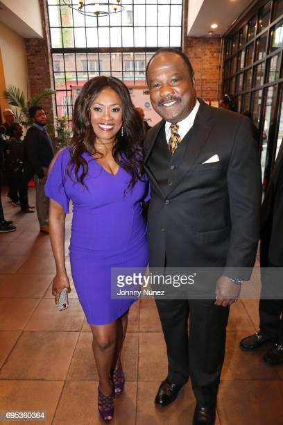 Angela Kissane and Isiah Whitlock Jr attend 2017 Moving Mountains Award Presentation on June 6 2017 in New York City