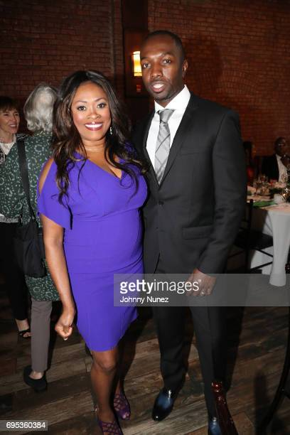 Angela Kissane and Jamie Hector attend 2017 Moving Mountains Award Presentation on June 6 2017 in New York City