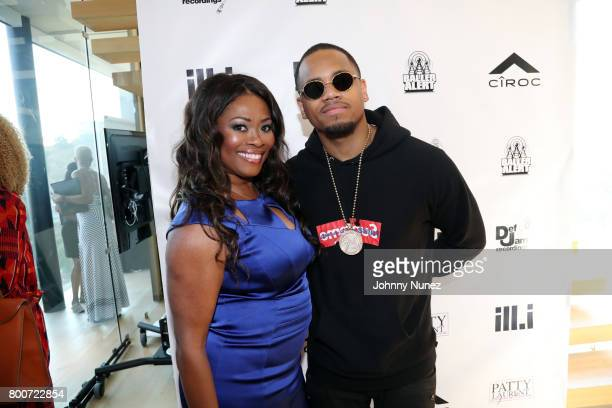 Angela Kissane and Mack Wilds attend a Def Jam Recordings Celebration for 2 Chainz Vince Staples Presented By Ciroc Vodka on June 24 2017 in Los...