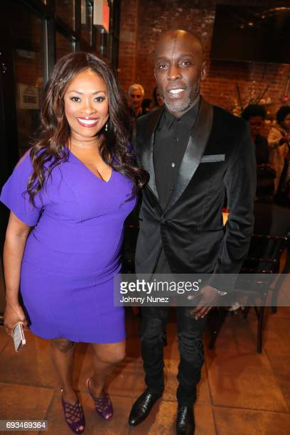 Angela Kissane and Michael K Williams attend 2017 Moving Mountains Award Presentation on June 6 2017 in New York City