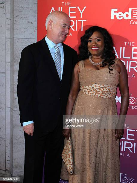 Angela Kissane and Robert Kissane attend the 2016 Ailey Spring Gala at David H Koch Theater at Lincoln Center on June 8 2016 in New York City