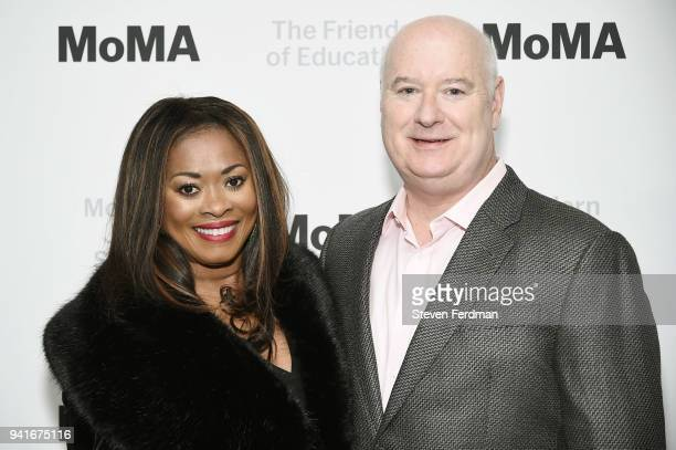 Angela Kissane and Robert Kissane attend the 2018 Modern Jazz Social at Museum of Modern Art on April 3 2018 in New York City