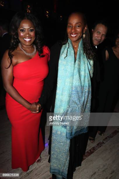 Angela Kissane Susan L Taylor and Khephra Burns attend the 2017 Ailey Spirit Gala at David H Koch Theater at Lincoln Center on June 15 2017 in New...