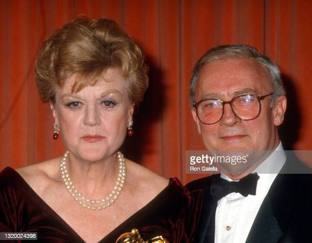 Angela Lansbury and Edward Woodward attend 44th Annual Golden Globe Awards at the Beverly Hilton Hotel in Beverly Hills, California on January 31,...